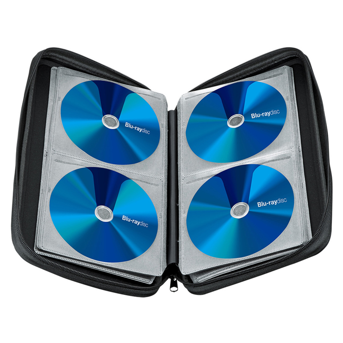 Storage Carrying Case Holder Wallet Organizer Holds 128Pcs For CD DVD Blu-Ray Disc