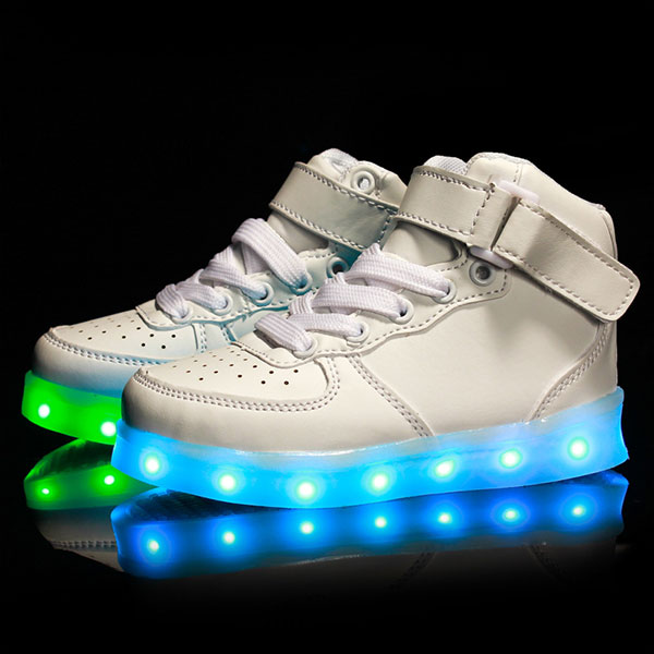 Buy Autumn Winter New Fashion Boys Girls LED Light Shoes Kids USB Charge Colorful Casual Sneakers