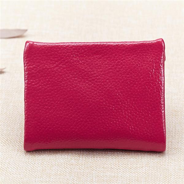 レディースメンズ本物のレザーショートウォレットエレガントなジッパー財布カードホルダーコインバッグ