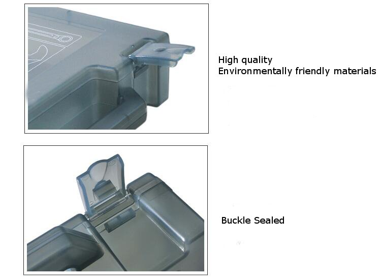 230x195x55mm Portable Tool Storage Box Moistureproof Waterproof Explosion-proof  - Photo: 4