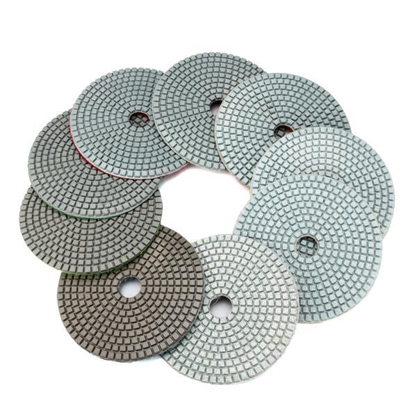 5 Inch 30-6000 Grit Diamond Polishing Pad Wet Dry Sanding Disc for Marble Concrete Granite Glass