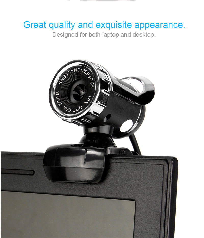 HD Auto White Balance 12M Pixels Webcam with Mic Rotatable Adjustable Camera for PC Laptop 21