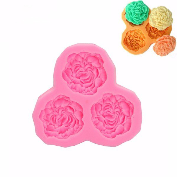 KCASA 3D Silicone 3 Rose Flowers Fondant Cake Chocolate Mold Mould DIY Cake Decoration (Eachine1) Sterling Heights Purchase b