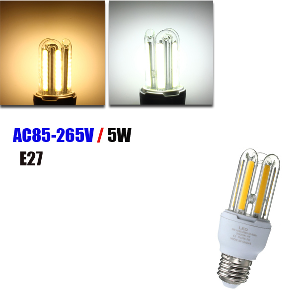 E27 5W COB Warm White /White Energy Saving Corn Light Bulb AC 85-265V