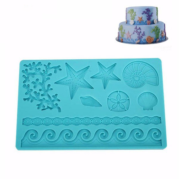 6 Tips To Using Coral In The Kitchen: Silicone Adorable Coral Starfish Shell Ocean Embossing