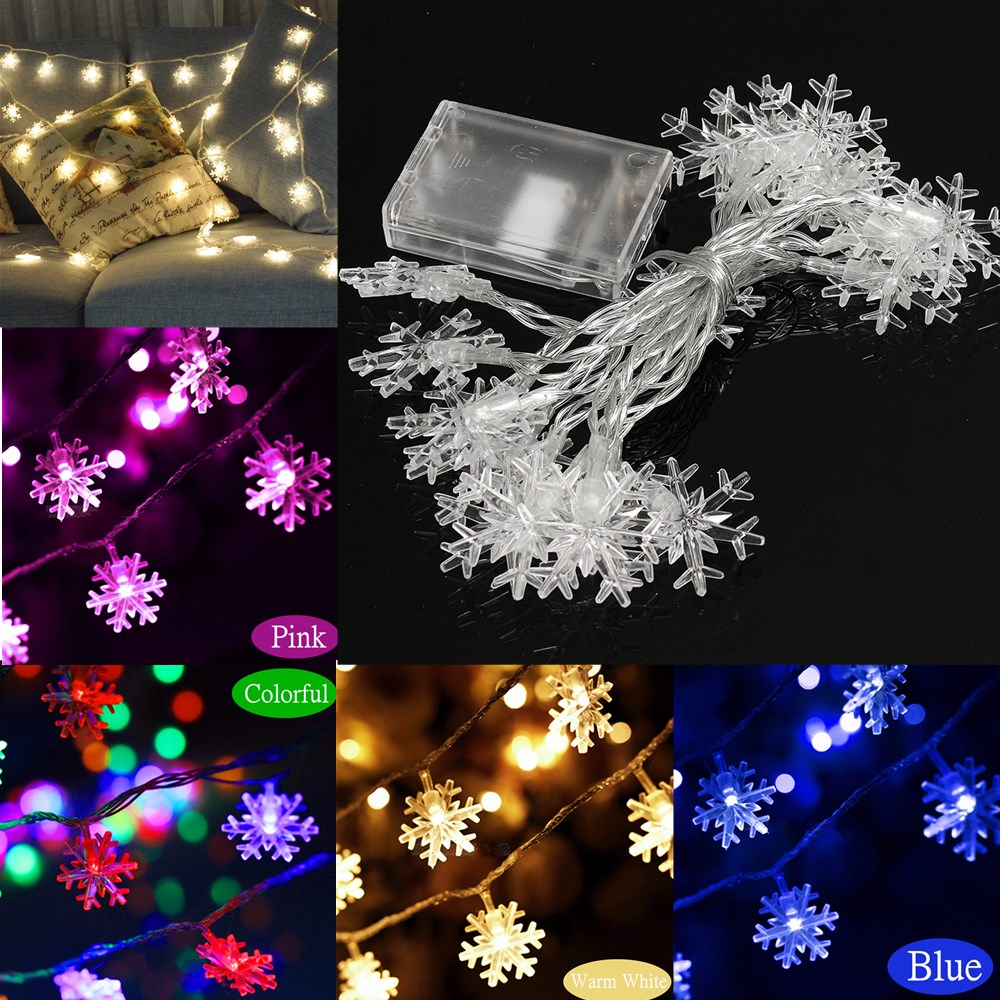 2 5m 5m led snowflakes string christmas light xmas tree for B m xmas decorations