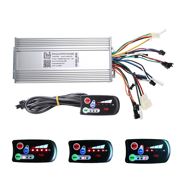 Buy 36V/48V 800W/1000W Dual-mode Electric Scooter Bike Controller with 790 LED Control Panel