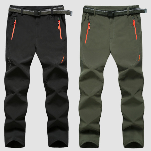 Buy Plus Size M-6XL Outdoor Soft Shell Pants Quick-Drying Sports Mens Windproof Waterproof Hiking Trouse