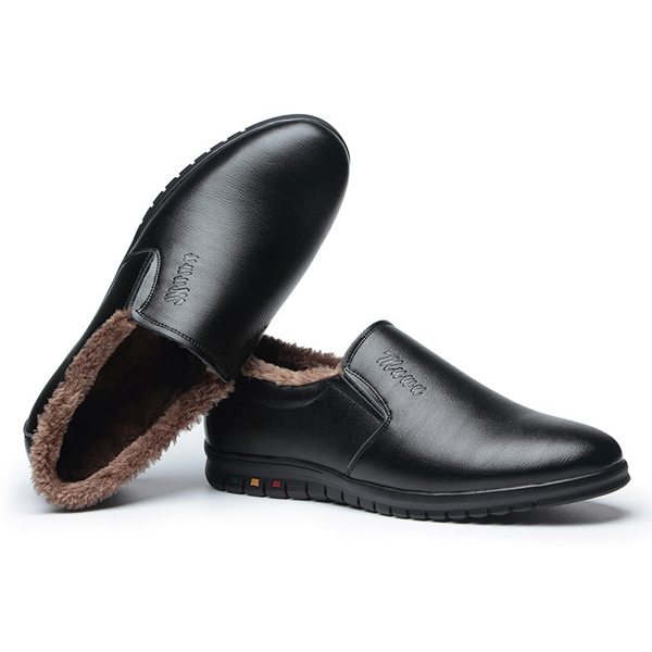 Slip On Wool Fleece Lににg Round Toe Keep Warm Wにter 靴