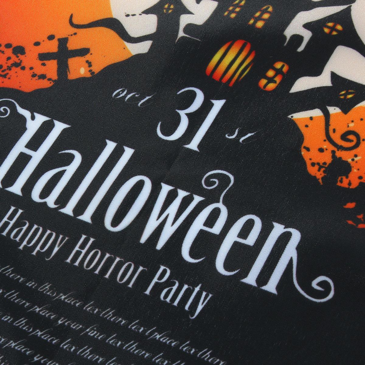 30x45cm Halloween Polyester Black Castle Bat Flag Garden Holiday Decoration