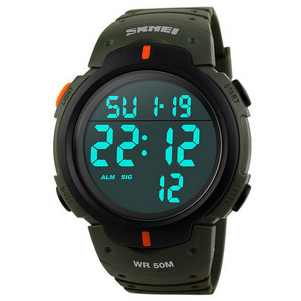 SKMEI 1068 Waterproof Digital Alarm Military Sport Watch