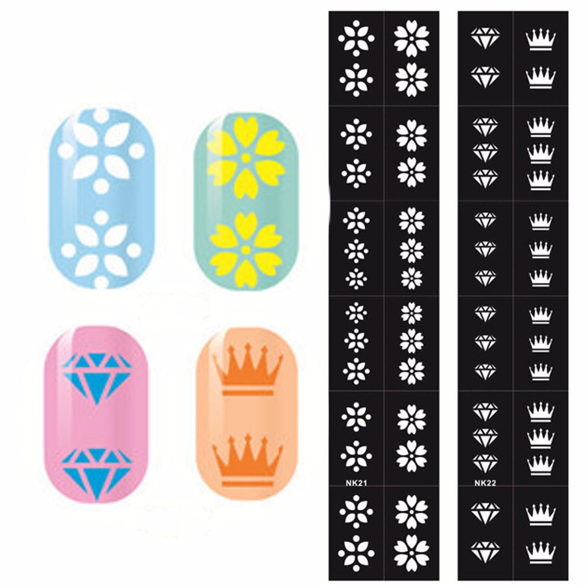 Виниловые трафареты наклейки дизайна ногтей