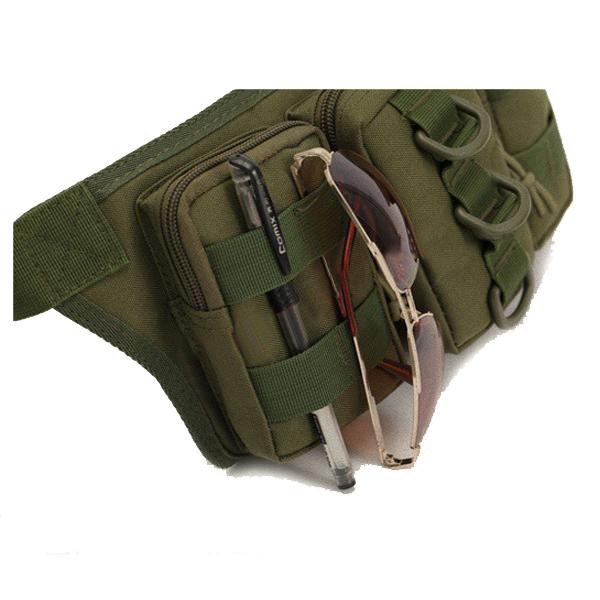 メンズナイロンアウトドアスポーツカモフラージュウエストバッグ多機能サイクリングトラベルウエストバッグ