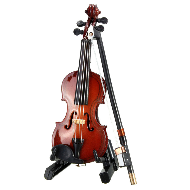 1 12 violin wooden musical instrument with case holder