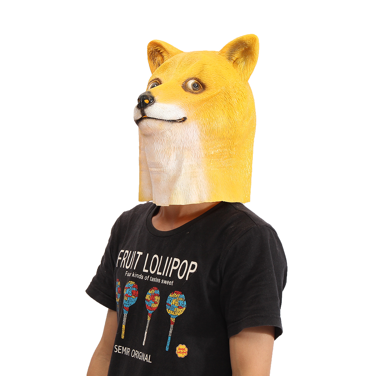 Buy Doge Head Mask Creepy Animal Halloween Costume Theater Prop Latex Party Toy