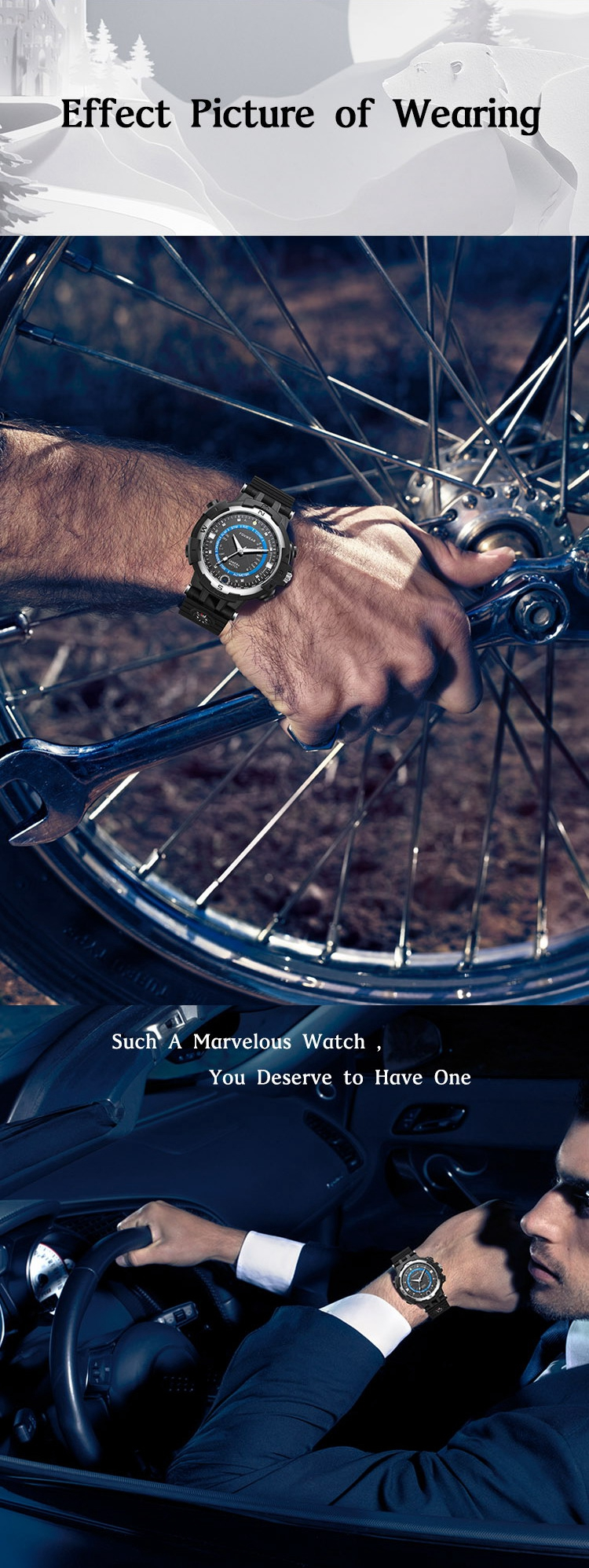 FOX8 Outdoor Sport Watch 720P WIFI 16G Car Bicycle Driving Recorder Compass Hiking Wrist Watch