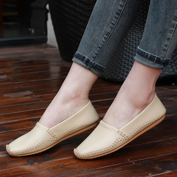 Laides Flat Shoes Casual Slip On Flats Soft Sole Loafers Round Toe Flat Loafers vintage women flats cloth shoes chinese wedding mary janes floral embroidered casual soft canvas dance ballet flat for woman