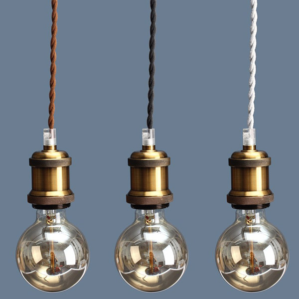 Ceiling light bulb base : Other lighting and lamps e retro edison copper