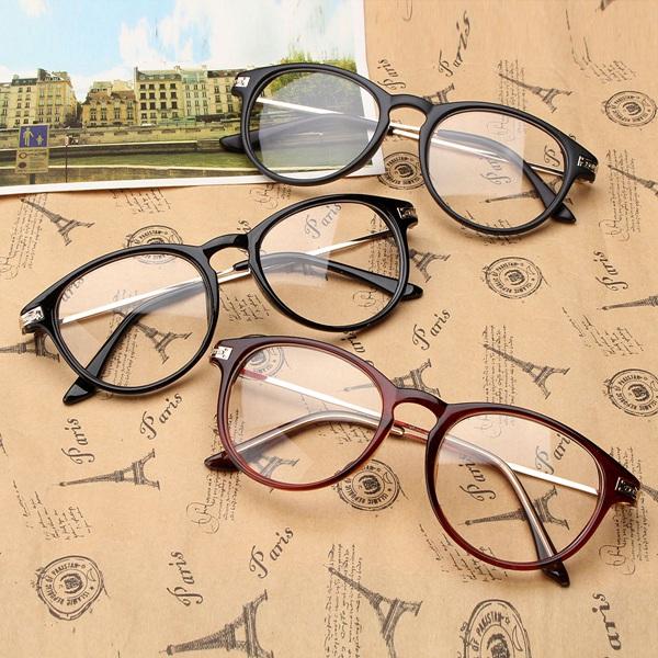 unisex retro light sturdy reading glasses eyewear frame