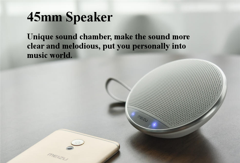 Original Meizu A20 Mini Portable Hanging Rope AUX-in HIFI V4.2 Bluetooth Speaker for Samsung iPhone