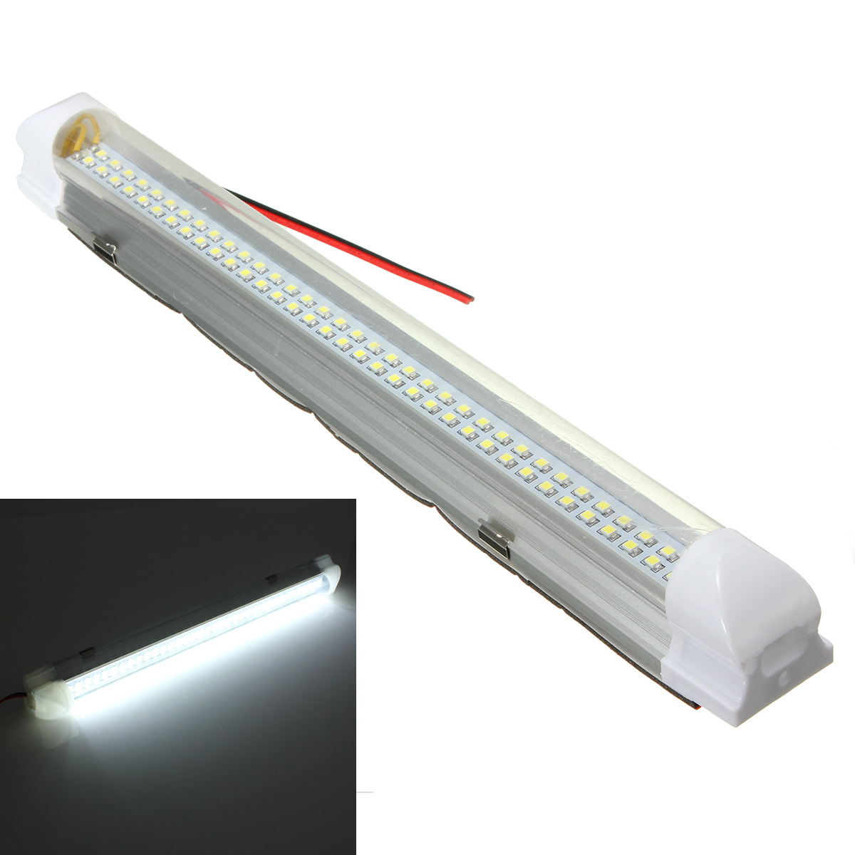 Universal Car Auto Caravan Interior 72 LED White Light Strip Lamp ON/OFF Switch dongzhen car led external reading light dome festoon light interior light xenon car styling automobiles blue white universal