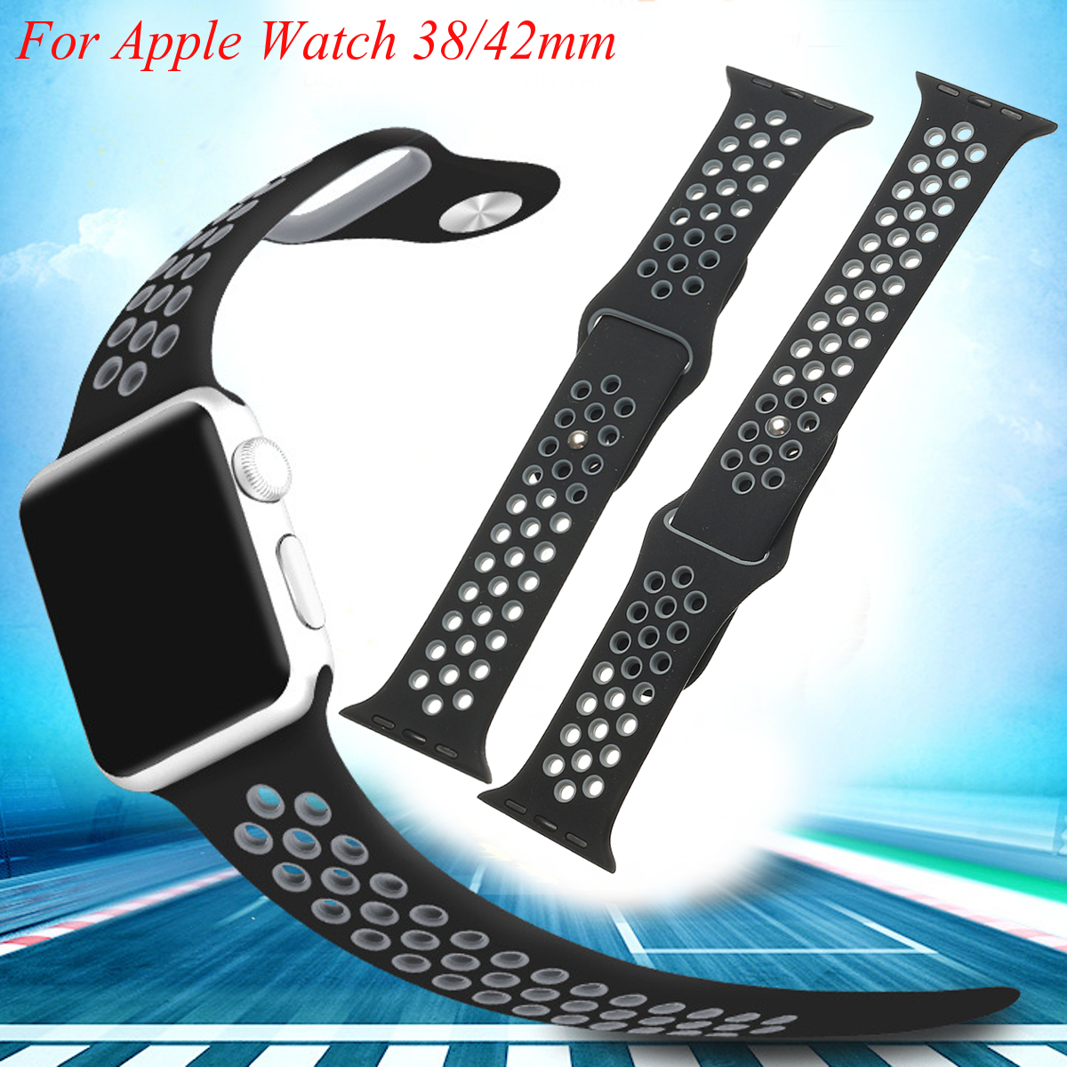 Silicone Watch Band Wrist Strap for Apple Watch 2 Series