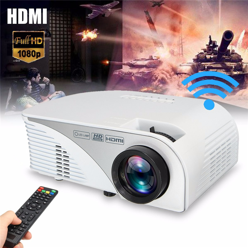 G8005a mini portable hd 1080p 1200 lumens wifi android 4 4 for 1080p mini projector reviews