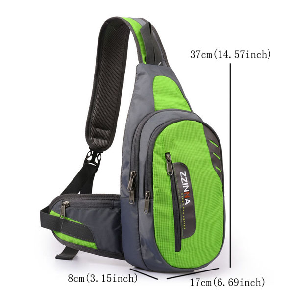 Men Polyester Casual Small Outdoor Cycling Blue Green Shoulder Crossbody Bag