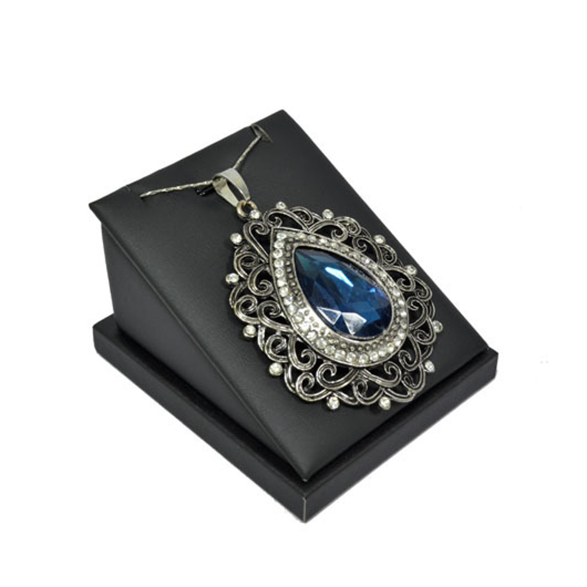 black pu necklace jewelry holders pendant display stand