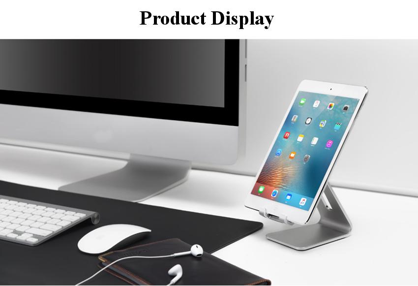 Universal Adjustable Anti-slip Aluminum Desktop Stand Charging Holder For iPhone Samsung iPad Chuwi