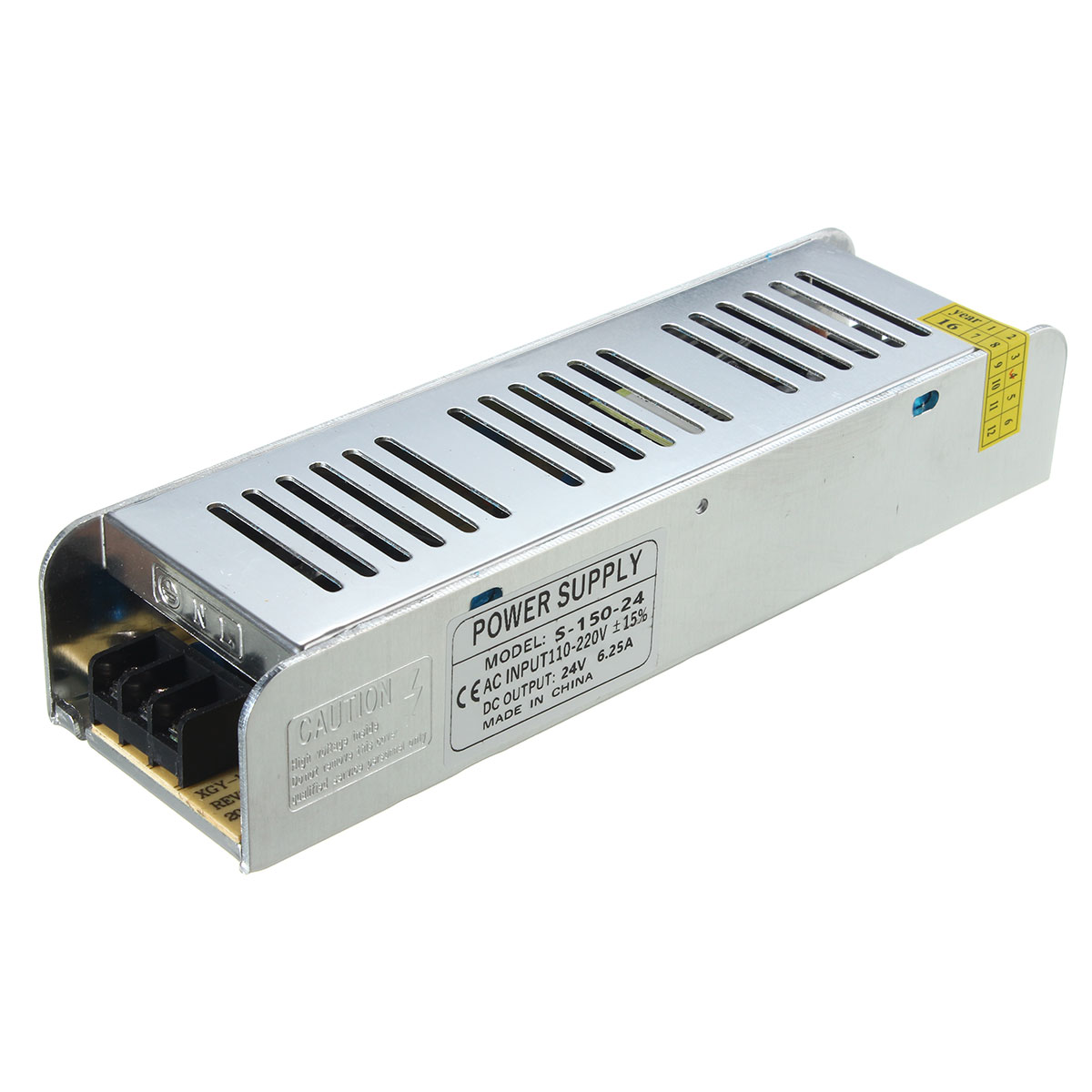 IP20 AC110V-220V To DC24V 150W Switching Power Supply Driver Adapter