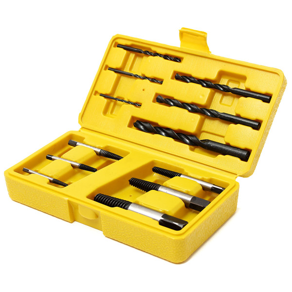 Screw Extractor Bolt Stud Remover Tool Set with Drills