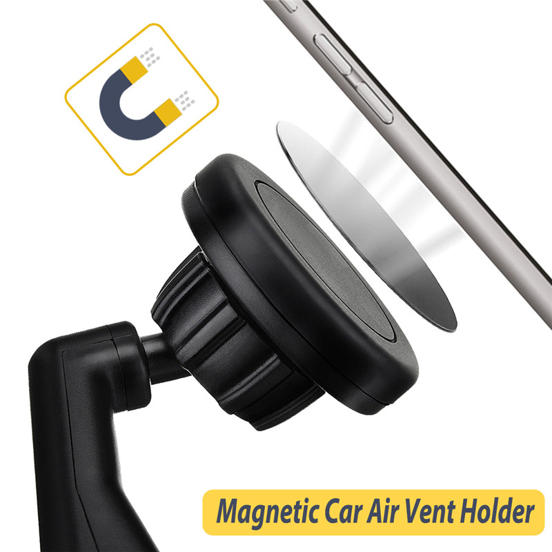 Universal Strong Magnetic 360 Degree Rotation Car Air Vent Phone Holder Mount for Mobile Phone