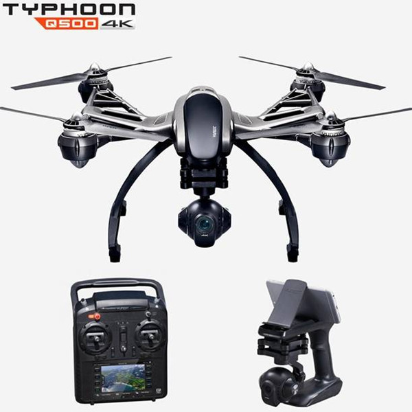 Yuneec Typhoon Q500 5.8G FPV With 4K HD Camera CGO3 3-Axis Gimbal RC Quadcopter RTF with two batteries yuneec q500 4k camera with st10 10ch 5 8g transmitter fpv quadcopter drone handheld gimbal case