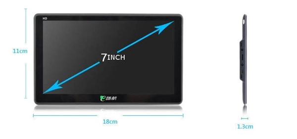 E13 7 Inch TFT HD 128M GPS Navigation Built-in 8G Storage with WinCE 6.0 System Support Hand Writing