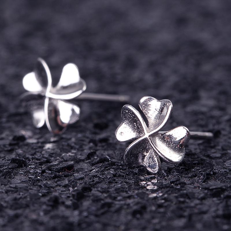 925 Sterling Silver Sweet Flower Earrings For Women