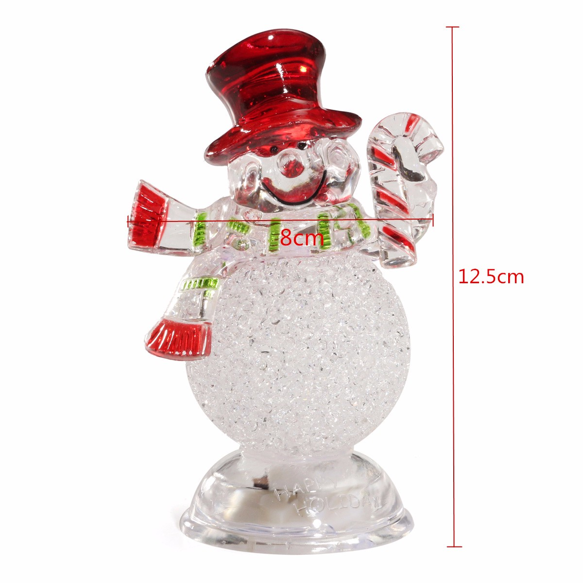 Acrylic Christmas Xmas Transparent Snowman LED Light Color Changing Home Decor - Photo: 9