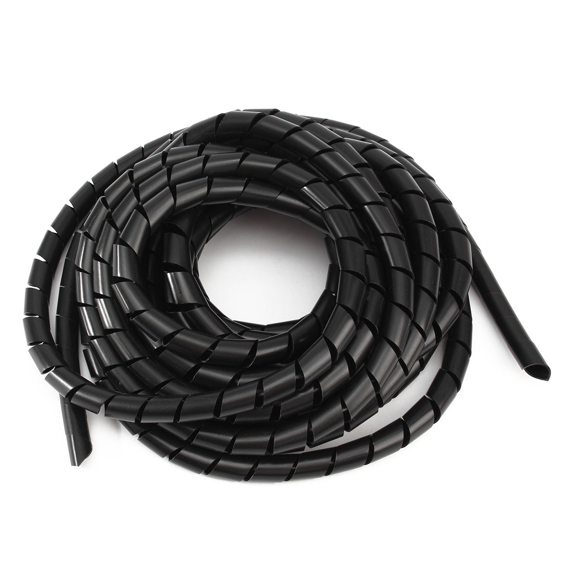 black spiral polyethylene cable electrical wire wrap tube
