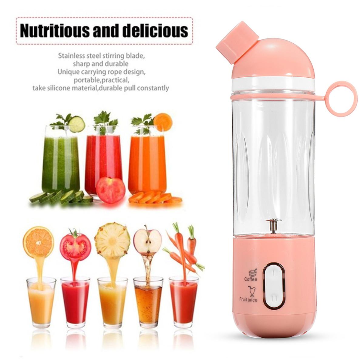 400ml USB Electric Fruit Juicer Smoothie Blender Portable Travel Coffee Maker Bottle Juice Cup 34