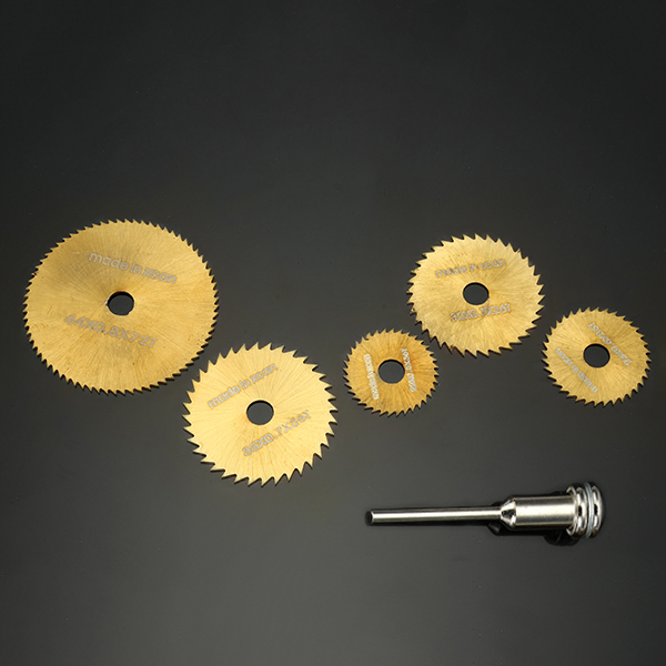 6pcs HSS Circular Saw Blades Set Titanium Coated Saw Blades for Dremel Rotary Tools