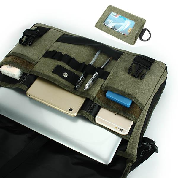 Men Bag, Canvas Multifunctional Big Capacity, Outdoor 17.3 Inch Laptop, Crossbody Bag Handbag