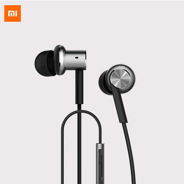 Original Xiaomi Hybrid Dual Drivers Wired Control Earphone Headphone With Mic 2 real carbon fiber door wing rear view mirror cover decorative trim for land rover discovery 5 l462 2017 2018 car styling