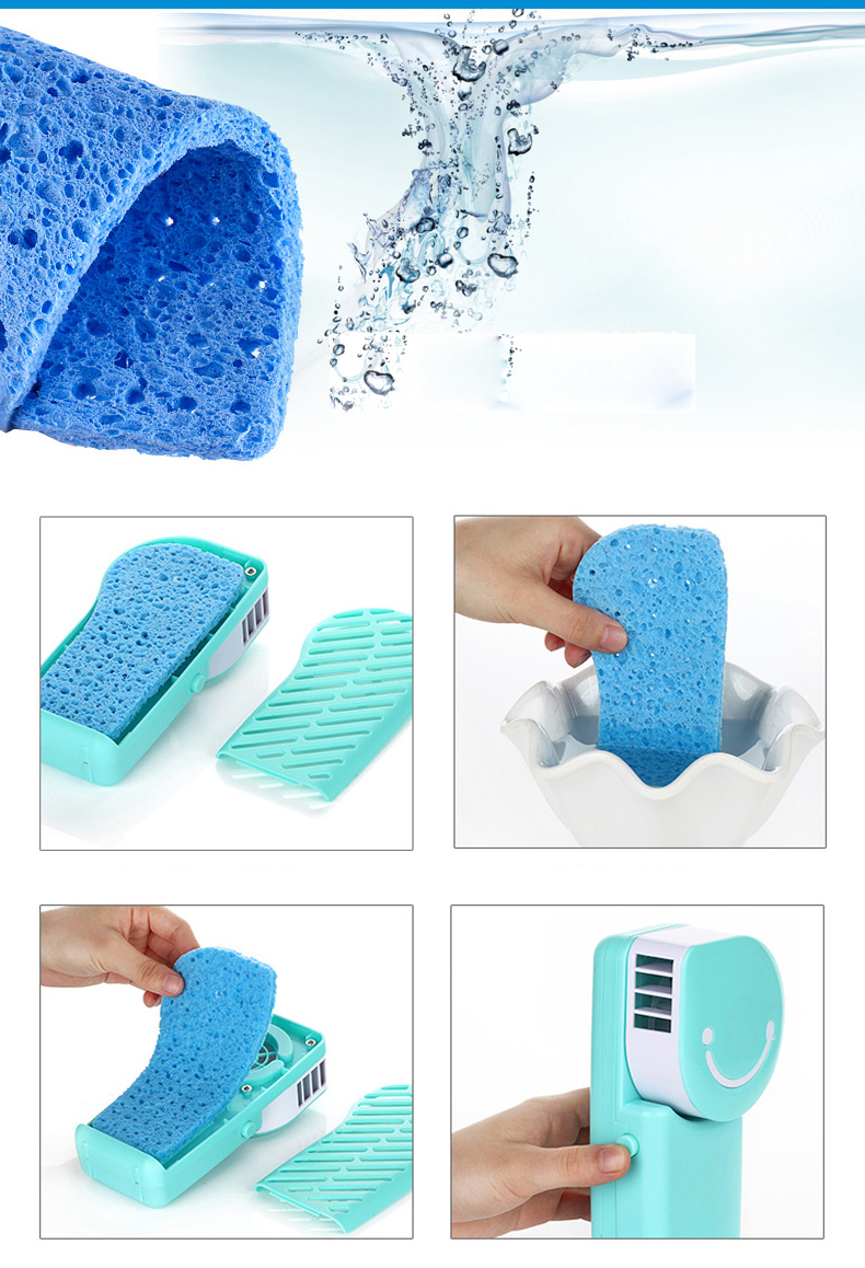 Loskii LX-882 Summer Mini Fan Cooling Portable Air Conditioning USB Charge Hand-held Cool Fan 21