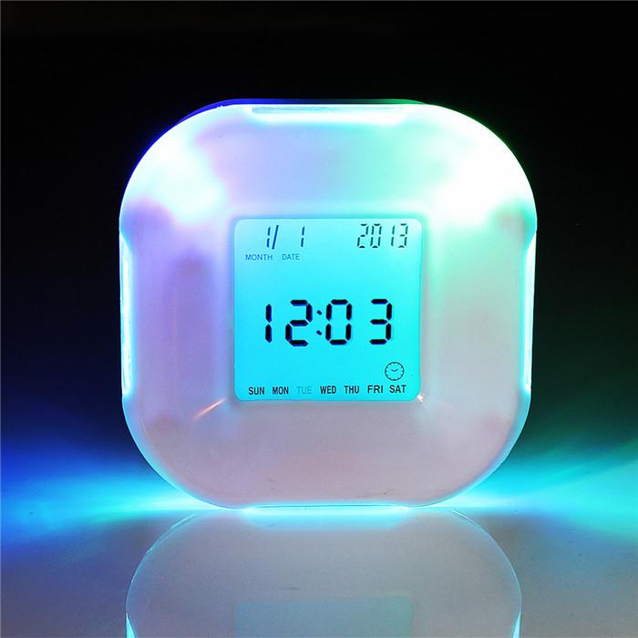 Buy Multifunction 4 Side Change Clock Calendar Timer Temperature Rotation LED Digital Alarm