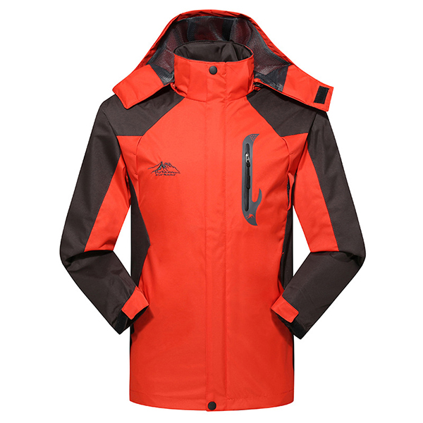 Spring Fall Outdoor Sports Casual Waterproof Quick-drying Hooded Mountaineering Jacket
