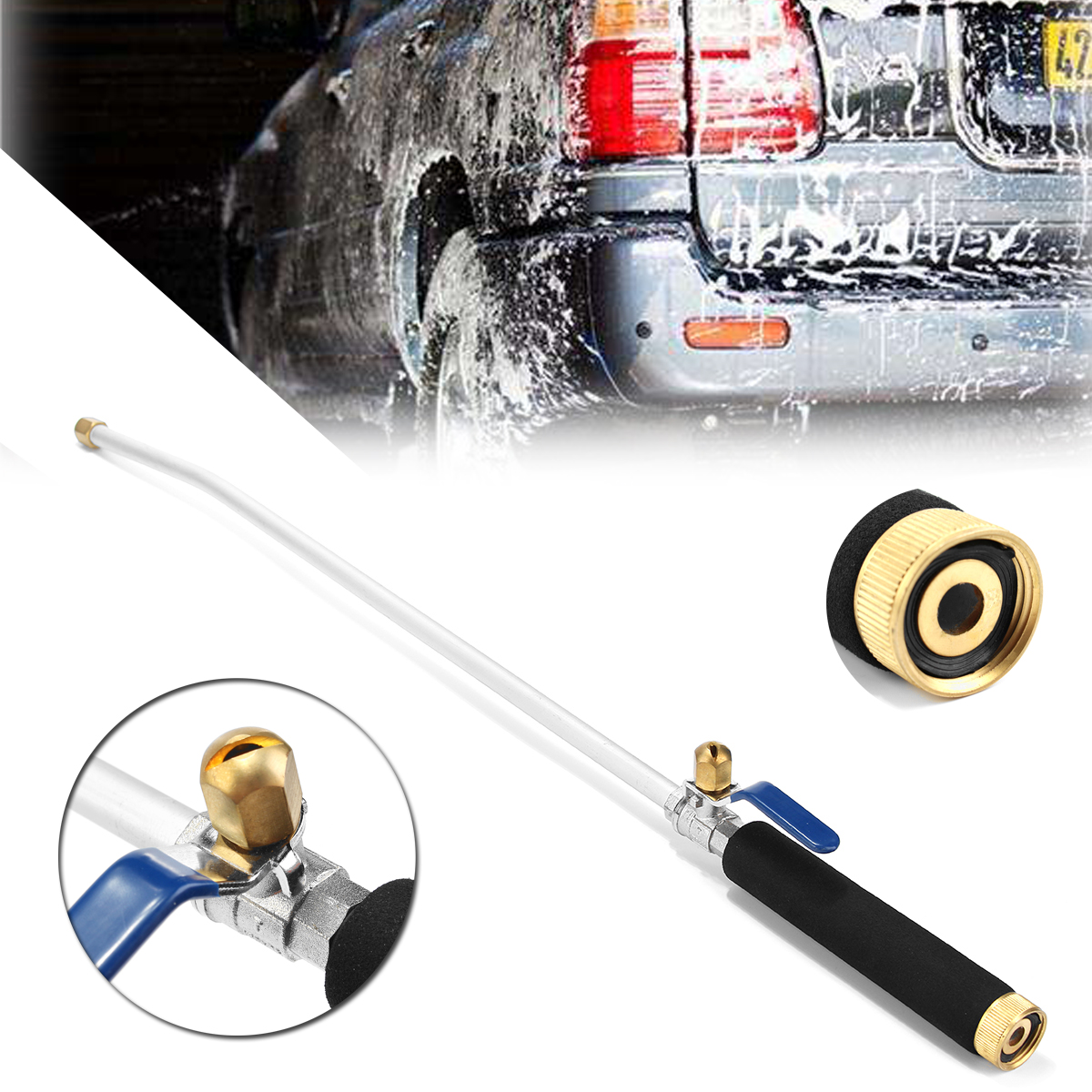 Original High Pressure Car Washer Water Wash Spray Hose Nozz