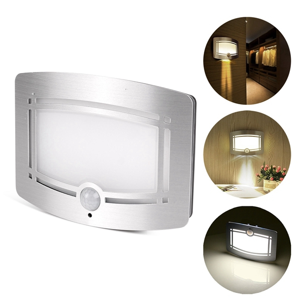Cordless Indoor Wall Lamps : Motion Sensor Activated LED Wall Light Battery Operated Lamp for Home Indoor Cor eBay