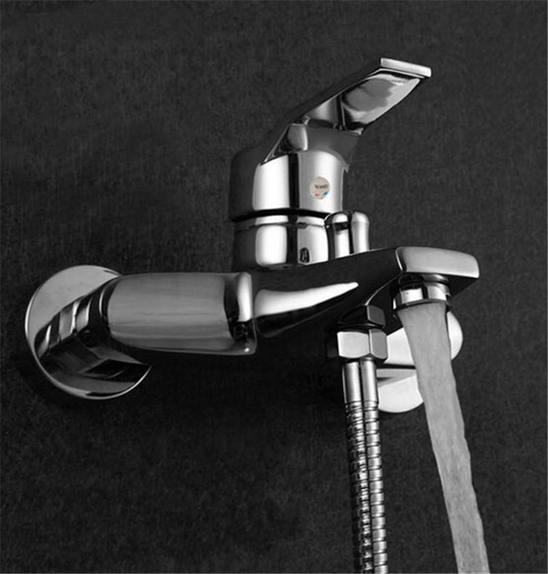 Modern Bathroom Tap Tub Shower Faucet Wall Mount Shower Head Bath Faucet Valve Mixer Alex Nld