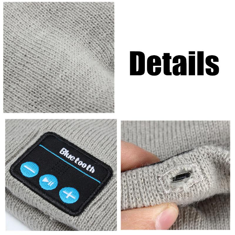 Hat Wireless Bluetooth Smart Cap Headset Headphone Earphone Speaker With Mic