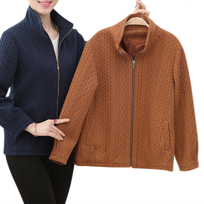 Casual Women Lapel Zipper Pure Color Long Sleeve Coat